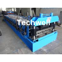 China 18 Forming Stations Roof Roll Forming Machine With Manual Or Hydraulic Type Decoiler / Uncoiler wholesale