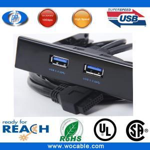 China Motherboard USB Female to USB 3.0 2 Ports Hub 3.5 Floppy Bay Rack New on sale