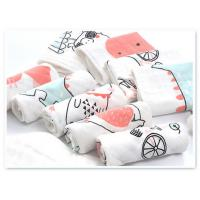 Quality Square Face Organic Cotton Muslin Washing Cloth With Print In 6 Layers for sale