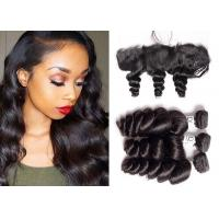 China Soft Malaysian Loose Wave Weave / Smooth Loose Wave Hair Extensions wholesale