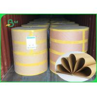 China 250 / 300 / 300gsm good strenght surface glossy FSC kraft paper roll for packing on sale