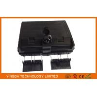 China 16 Outputs Fiber Optic Termination Box ABS+PC Black Uncut Cable Distribution Box on sale
