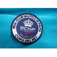 China Heat Press Badge Custom Embroidered Patches , Iron On Patch Applique For Clothing wholesale