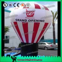 China White And Red Event Inflatable Balloon , Party Inflatable Ball wholesale