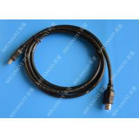 China Gold Plated High Speed HDMI Cable , Black Heavy Duty Round HDMI 1.4 Cable wholesale