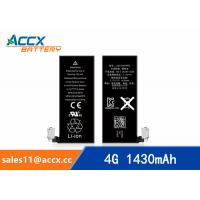 China ACCX brand new high quality li-polymer internal mobile phone battery for IPhone 4G with high capacity of 1430mAh 3.7V wholesale