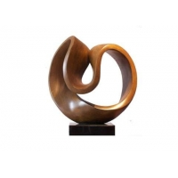 China Forged Abstract Copper Art Sculpture Small Black Bronze Art Statues Reception Room Decoration wholesale