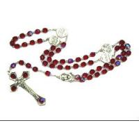 China cheap plastic religious or christain jewelry,acessories,products, necklace roasry with cross pendant on sale