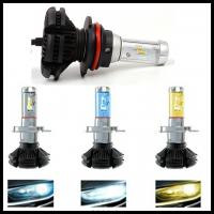 China X3 Fanless 6000LM 50W  ZES H4 9004 9007 H13 hi/lo beam LED headlight Car Auto LED DRL fog head light bulb on sale