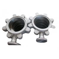China Precision Butterfly Valve Body Stainless Steel Valve Parts Silver Color ISO9001 on sale