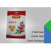 Quality 3 Side Seal Flat Pouch Center Seal Pouch , Specialty Food Packaging for sale