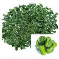 Buy cheap 2016 New Healthy Food  IQF 3*3mm,5*5mm Air-dried Chill Dehydrated Green Pepper in Stock 200T from wholesalers