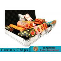 China 10,000Pcs 11.5g Clay Poker Chip Sets With Aluminum Case For Gambling Games for sale