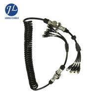 China 7 Pin Male Connect Four Female Aviation Cable For Split Screen Reversing Camera System wholesale