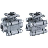 China 3PC 2000PSI Floating CF8 / CF8M Ball Valve NPT / BSP Thread Ends BSPP PAD ISO5211 on sale