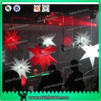 China 1m Customized Red Star White Inflatable Star For Event With LED Lighting wholesale