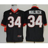 China Georgia Bulldogs Herchel Walker 34 College Football Limited Jerseys - Black wholesale