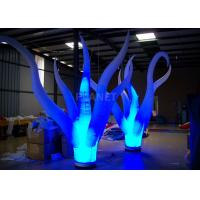 China Color Changing Inflatable Tree Durable 210 D Oxford Cloth For Event Decoration wholesale