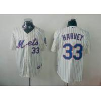 China mlb new york mets 33 Harvey white blue strip jersey wholesale