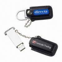 Buy cheap High-speed USB Flash Drives with 64MB to 32GB Capacity, Metal Body and Leather from wholesalers