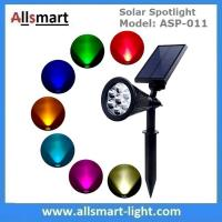 Buy cheap Solar Spotlights 7 LED Changing Color Garden Solar Lights Outdoor Bright Dark Sensing Auto On/Off In-ground Light from wholesalers