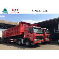 A7 8X4 HOWO Dump Truck 30 CBM 420 HP Euro 4 Flat Roof For Quarry Philippines