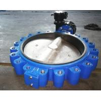 China 8'' Ductile iron Lug Type butterfly valve  with gearbox  PN16 on sale