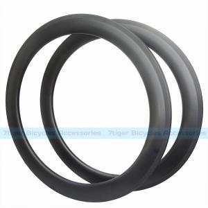China 7-tiger Bike 60 x 25 mm basalt brake carbon Clincher road rims ud weave matte U shape bicycle wheels wholesale