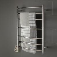 China 7 bars round arc type stainless steel wall mounted pratical safety heated towel rack wholesale