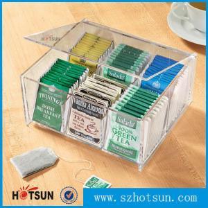 Quality First class decor custom design tabletop clear acrylic tea box for sale