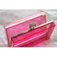 China Red Party acrylic makeup storage boxes / perspex boxes Eco-Friendly wholesale