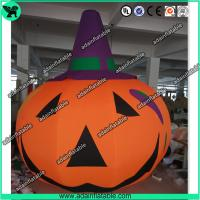 China 3m Customized Oxford Inflatable Pumpkin With Witch Hat  For Halloween Decoration wholesale