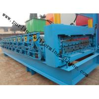 China High Efficiency Double Layer Cold Roll Forming Machine for Roofing Tile / Wall Panel wholesale