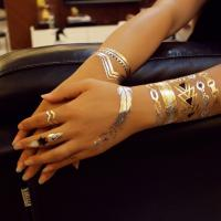 China Full Color Flash Gold Foil Tattoo Metallic Fashionable For Body Art wholesale