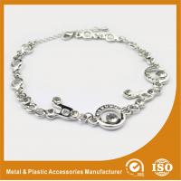 China Environmental Zinc Alloy Silver Chain Bracelet Two Colors Plating 15mm wholesale