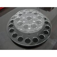 China Rouge Crystal Clear Acrylic Cosmetic Display Holder With Custom Logo wholesale