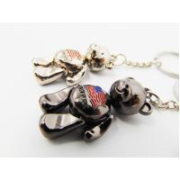 China Girls Gifts Aluminum Alloy Metal Souvenir , Metal Teddy Bear Keyring For Ornaments wholesale
