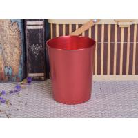 China Decoration Red Copper V Shaped Cup Metal Candle Jar Tin Candle Containers wholesale