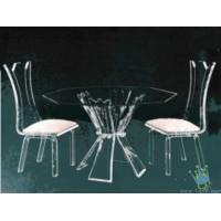 China acrylic bar table and chairs wholesale