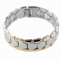 China Bracelet with Magnet, Can be Made of Stainless Steel or Titanium  wholesale