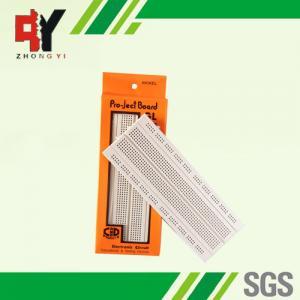 China Socket White Electronics Breadboard Power Line Spring Clip Finishing wholesale