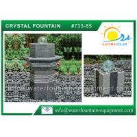 China Glass Rolling Ball Small Garden Water Features , Different Shape Granite Ball Fountain wholesale
