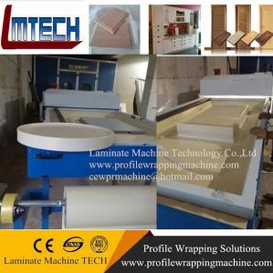 China kitchen cabinet carved wooden antique door vacuum membrane press machine wholesale