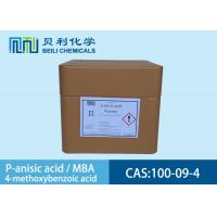 Buy cheap 100-09-4 White Crystalline Powder P-Anisic Acid In Preservatives from wholesalers