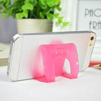 China Small Pink Pp Phone Desk Stand Cable Drop Clips Boomray 5.1*8.5 wholesale