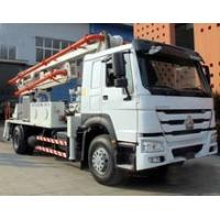 China 6 Wheels Concrete Pump Truck / Cement boom Truck With 125M3 / H High Output wholesale