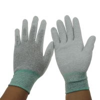 China Grey 13G 280D Nylon PU Coated Palm Fit ESD Gloves wholesale