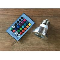 China Shopping Mall RGB 3 Watt LED Spot Bulbs With Remote Control 16 Colors 24 Keys on sale