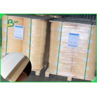 China Size 14mm 60gsm white / brown waterproof karft paper for straw wood pulp roll wholesale