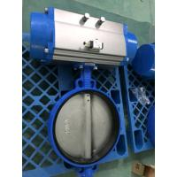 China Pneumatic Butterfly Valve , Pneumatic Operated Butterfly Valve By Spring Return Double Acting Actuator on sale